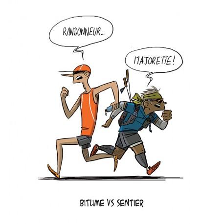 Bitume versus Sentiers