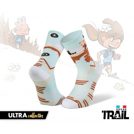 Chaussettes TRAIL ULTRA bleu ciel - Collector DBDB