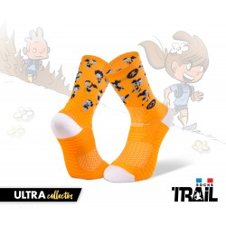 Chaussettes TRAIL ULTRA orange - Collector DBDB