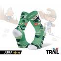 Chaussettes TRAIL ULTRA vert- Collector DBDB