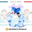 Chaussettes TRAIL ULTRA Neige bleue - Collector DBDB - Wave 2