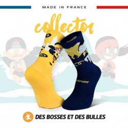 Chaussettes TRAIL ULTRA neige bleue - Collector DBDB
