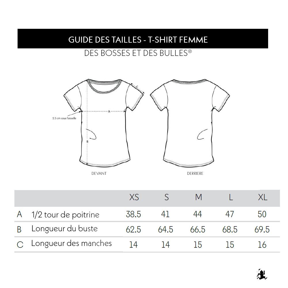 Guide Tailles Tshirt DBDB Femme