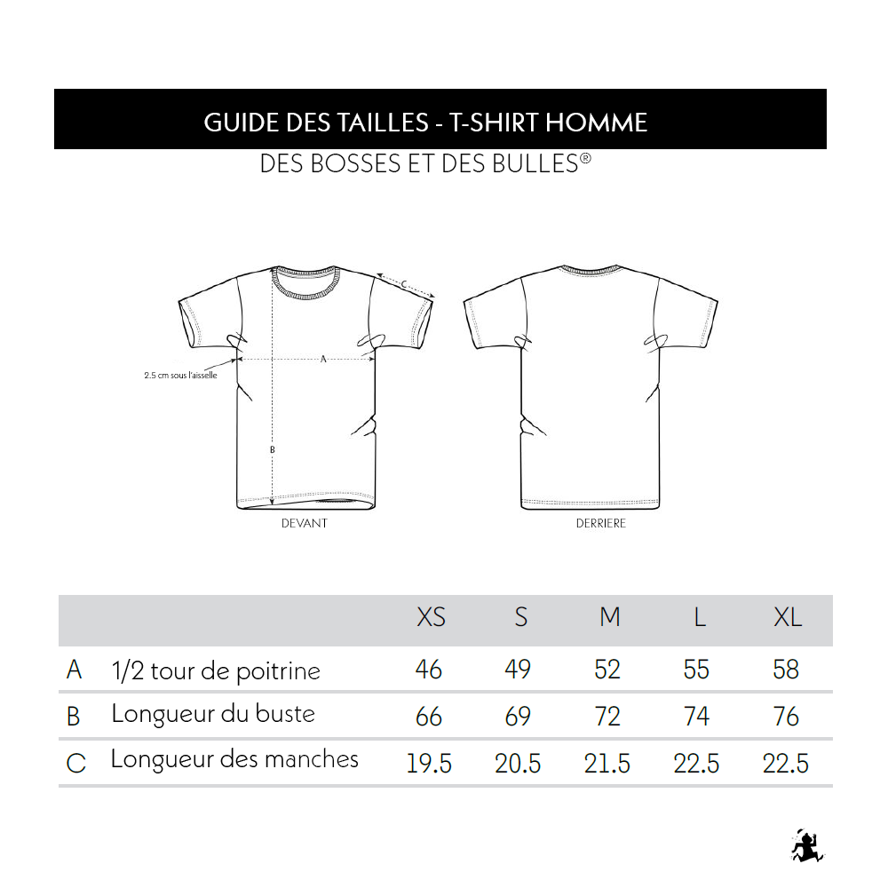 Guide des tailles TS Homme DBDB