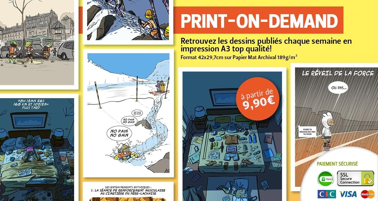 Le Print-On-Demand Des Bosses Et Des Bulles